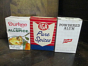 Vintage Set Of Spice Boxes