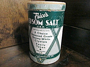 Vintage Price's Epsom Salt Box