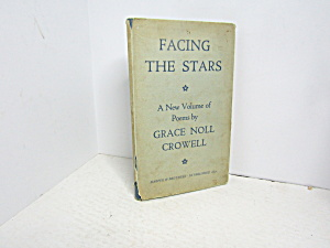 Vintage Poetry Book Facing The Stars