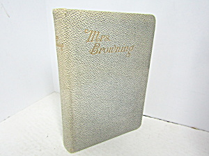 Vintage Poetry Book Mrs Browning