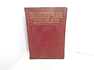 Vintage Book Shakespeare Complete By Sir Henry Irving