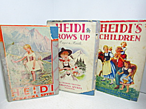 Vintage Rare Books Heidi Heidi Grows Up Heidis Children