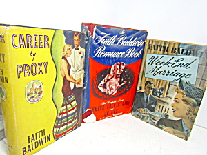 Vintage Book Set By Faith Baldwin
