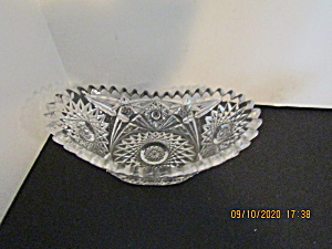 Vintage Early American Cut Glass Relish/candybowl