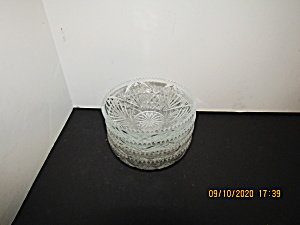 Vintage Kig Indonesia Glass Sause Trinket Dishes