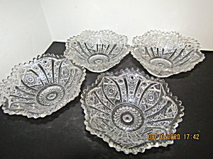 Vintage Early American Glass Dessert/sause Dishes