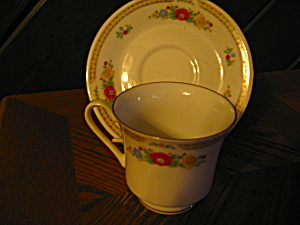 Crown Ming Floral Mist Cup And Saucer Set