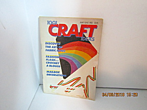 Vintage Booklet 1001 Craft Ideas May/June 1982 (Image1)