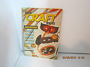 Vintage Booklet 1001 Craft Ideas Fall 1982