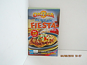Vintage Booklet Ortega Mexican Fiesta Recipes