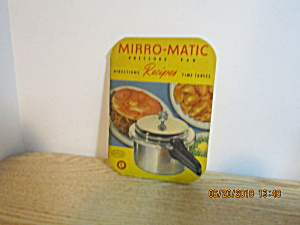 Vintage Booklet Mirro-magic Pressure Pan Recipes