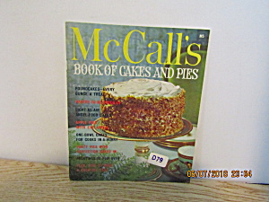 Vintage Cookbook Mccall's Book Of Cakes & Pies