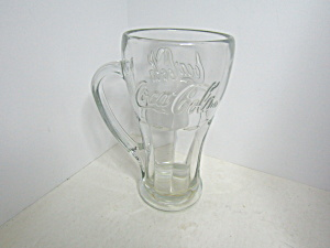 Vintage Handled Coca-cola Clear Contour Soda Glass