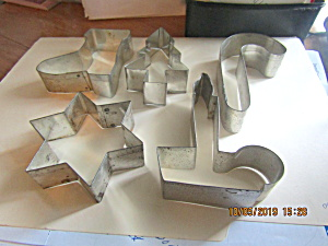 Vintage Medium Size Christmas Cookie Cutter Set