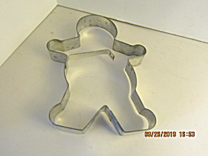 Vintage Large Metal Gingerbread Man Cookie Cutter