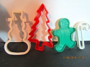 Vintage Plastic Christmas Cookie Cutter Assortment
