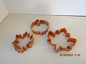 Vintage Tan Fall Thanksgiving Cookie Cutter Set