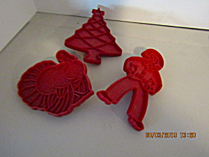 Vintage Wilton Holiday Cookie Cutter Set Ii
