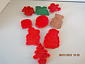 Vintage Christmas Nine Piece Cookie Cutter Set