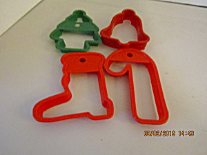 Vintage Red/green Christmas Cookie Cutter Set