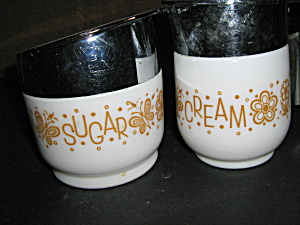 Vintage Gemco Butterfly Gold Sugar&creamer