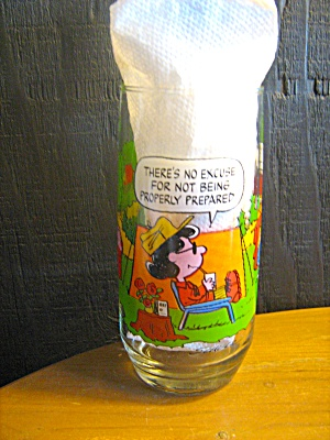 Collectible Glass Camp Snoopy There's No Excuse