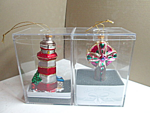 Vintage Classic Glass Collection Ornaments Set
