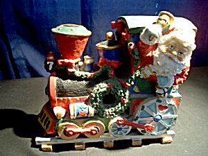 Vintage Christmas Santatrain Engine