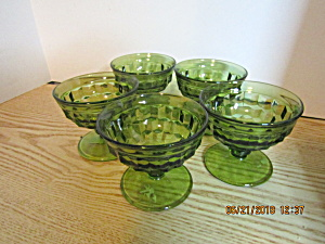 Vintage Colony Avacado Green Champagne/tall Sherbet