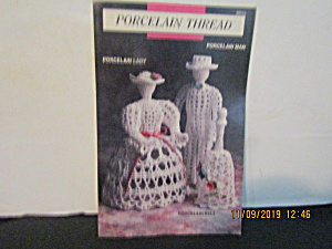 Vintage Booklet Porcelain Thread Lady Man & Bell