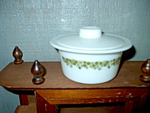 Pyrex Spring Blossom Green Covered Round Butter Tub