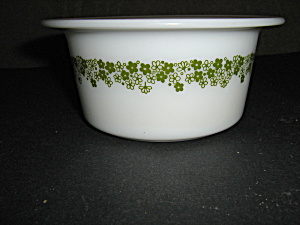 Pyrex Spring Blossom Green Round Butter Dish