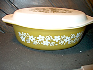 Pyrex Spring Blossom Green Covered Casserole