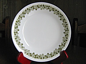 Vintage Corelle Spring Blossom Green Luncheon Plate
