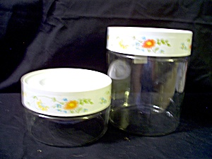 Vintage Pyrex Canister Set Spring Bouquet/wildflower