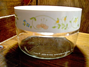 Vintage Pyrex Spring Bouquet/wildflower Small Canister