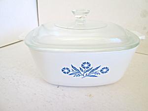 Vintage Corning Cornflower Blue 1.5 Quart Casserole (Image1)