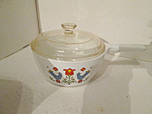 Vintage Corning Ware Country Festival Sauce Pan