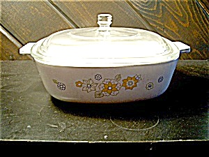 Vintage Corning Ware Small Casserole Floral Bouquet