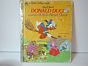 Vintage Golden Book Donald Duck And The Witch Next Door