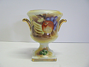 Enesco Hand Painted Mini Fruit Handled Urn Vase