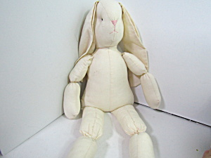 Vintage Craft Cotton Stuffed Rabbit Doll To Dress