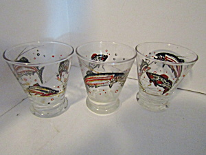 Vintage Small Fish Designed Cocktail Glasses