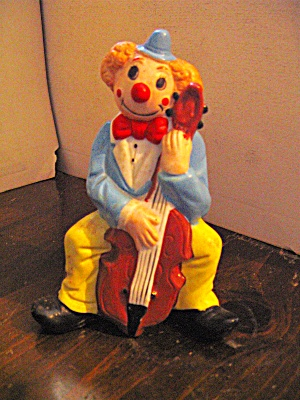 Vintage Shiah Yih Cello Playing Clown