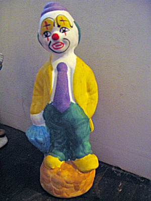 Vintage Hand Painted Sad Clown