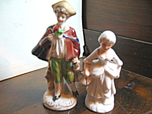 Vintage Colonial Gentleman & Lady Figurines