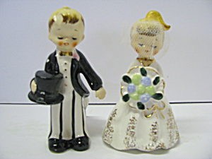 Vintage Bride & Groom Figurines
