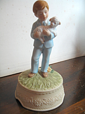 Romans Inc. Boy With Lamb Musical Figurine