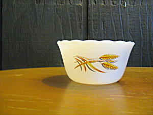Vintage Fire King Wheat Custerd Bowl