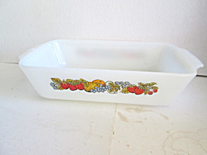 Vintage Fire King Nature's Bounty Loaf Pan